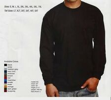 Pro Club Men's (3) Long Sleeve Heavy Weight Solid Basic T-shirts (GET 1 FREE)