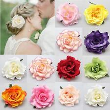 Wedding Bridesmaid Bridal Party Brooch Rose Flower Hair Clip Hairpin Accessories