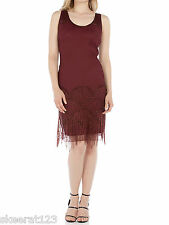 New Roman Originals Fringe Tassel Gatsby 20's Beaded Flapper Dress Size 10-20