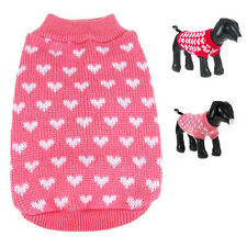 Puppy Pet Dog Cat Warm Sweater Clothes Small Knit Coat Winter Apparel Outerwear