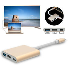 USB 3.1 Type-C to USB3.0 Type-C 4k HDMI Hub Adaptor Converter for Apple Macbook