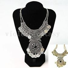 European and American fashion retro luxury Coin Necklace