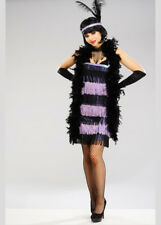 Sexy Purple Fringed 1920s Flapper Girl Costume