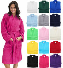 Womes & Mens 100% Cotton Terry Towelling Bathrobe Dressing Gown Premium Quality