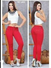 BEAUTIFUL BUTT LIFTER COLOMBIAN JEANS IN RED COLOR  SIZE 5 USA W/POCKETS #6820