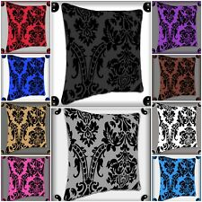 "New Decorative Decor Throw Sofa Pillow Case Cushion Covers Damask Flock 18""X 18"""