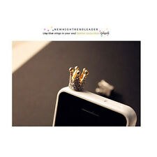 3.5mm Crown Anti Dust Earphone Plug Cover Stopper Cap For Smart Phone