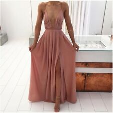 Women Backless Maxi Long High Split Evening Party Elegant Dress!!!