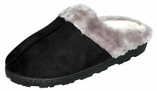 Womens Faux Shearling Cozy Winter Indoor Outdoor Slippers