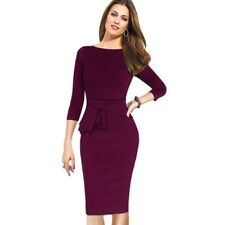 Women Dress Three Quarter Sleeve Women Dress Bodycon Pencil Ladies Formal Dress