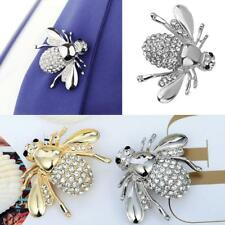 Gold Silver Women's Crystal Rhinestone Brooch Pin Small Honey Bee Pin Jewelry