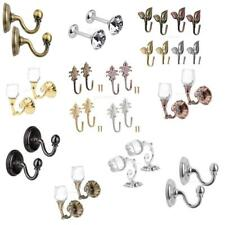 1 PAIR ZINC ALLOY CURTAIN HOLD BACK/TIE BACK HOOK PAIR