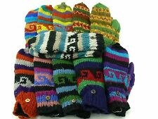 Womens Ladies Mens Wool Gloves Mittens for Women Convertible Cold Weather