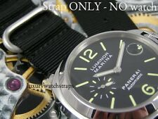 G10 ZULU NATO® STRAP FOR PANERAI WATCH / WATCHES JAMES BOND BLACK GREEN 24MM