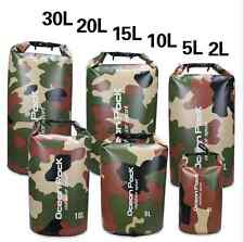 2-30L Camouflage Army Dry Bag Sack Camp Sailing Canoe Kayak Waterproof Float