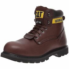 Mens Brown Leather Steel Toe Cap Caterpillar Boot Sheffield ST