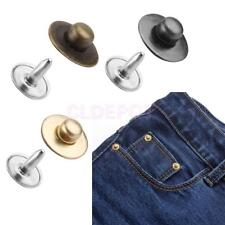 Pack of Rivets Fasteners Studs Button for Jeans Learther Sewing Craft 3 Colors