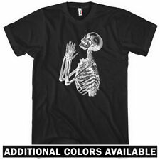Skeleton Prayer T-shirt - Men S-4X  Gift Hipster Holy Praying Skull Death Dead