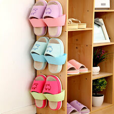 Home Wall-Mounted Sticky Hanging Shoe Storage Shelf Organizer Rack Hanger Holder