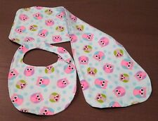 Baby Bib with matching Burp Cloth set c