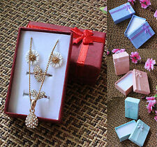 New 24Pcs Jewelry Gift Paper Boxes Ring Earring Necklace Watch Bracelet Box Case