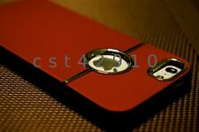 Deluxe Luxury Chrome Rubberized Snap-On Hard Back Case Cover for iPhone 5 5s SE