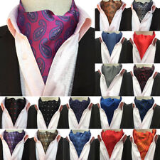 Men's Vintage Jacquard Silk Dots Flower Paisley Scarves Cravat Ascot Neck Ties