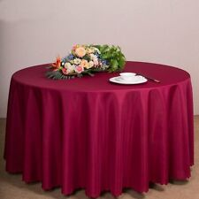 "New 60''-120"" Round Polyester Tablecloth Table Cover Linen Wedding Banquet Party"