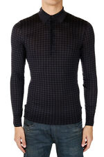 BOTTEGA VENETA Man Checked T-shirt in Cashmere & Silk Made in Italy