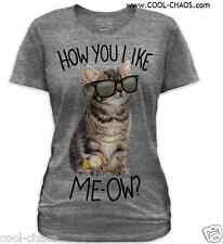 Hip Cat Sunglasses Kitten T-Shirt Juniors Sizes S/M/L/XL/2X COOL CAT,LOWBROW