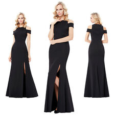 New Formal Long Black Dress Prom Evening Party Cocktail Bridesmaid Wedding Gown