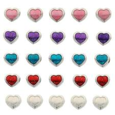 5pcs Cute Silver Plated Heart Shape Large Hole Beads Charm Fit Euro Bracelet
