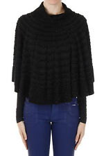 DSQUARED2 D2 New Woman Black Poncho knit Glitter Made in ITALY NWT