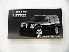 2007-2012 Dodge Nitro User Manual Guide / Owners manual / Operating info