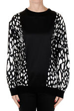 FAUSTO PUGLISI New woman black white Silk Blouse Made in Italy NWT