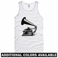 Gramophone Unisex Tank Top - Men Women XS-2X  Gift Music Record Player Turntable