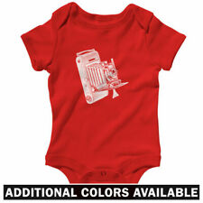 Vintage Camera One Piece - Baby Infant Creeper Romper NB-24M - Gift Photographer