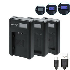 SEIWEI Battery Charger With LCD Screen Display For Camera Panasonic Battery