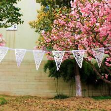 8M Vintage Style paper Lace Bunting Banner Garland Wedding Party Decoration