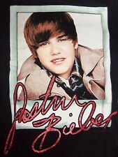 Justin Bieber Girls Polaroid Photo with Signature T-Shirt 1ct
