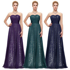 GK Stock Strapless Sequins Formal Ball Gown Evening Prom Party Dress Masquerade