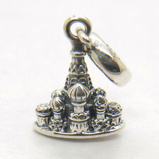 Genuine S925 Sterling Silver St. Basil's Cathedral Dangle Moscow Charm