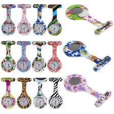 Arabic Numerals Round Dial Silicone Nurses Brooch Tunic Fob Pocket Watch Clever