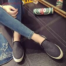 Womens/Girls Preppy Platform Faux suede Loafers Leisure Slip on Oxford Shoes