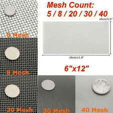 Stainless Steel 5/8/20/30/40 Mesh 6x12'' Woven Cloth Screen Wire Filter Sheet
