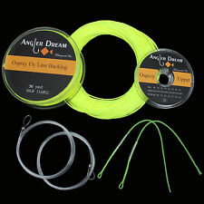 WF2/3/4/5/6/7/8F Floating Yellow Fly Fishing Line Backing Line Leader Tippet