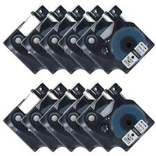 45013 Compatible for DYMO LabelManager D1 Label Tape Black on White 12mm Ribbon
