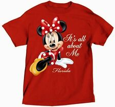 Disney Adult T-Shirt All About Me Minnie Florida Red