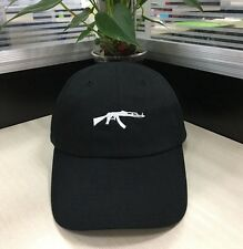 AK47 Assault Rifle Gun Vintage Strapback Hat Dad Drake Black Baseball Cap Hat