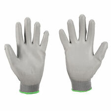 12/24 Pairs Grey Color Nylon PU Coated Safety Work Gloves General Purpose Gloves